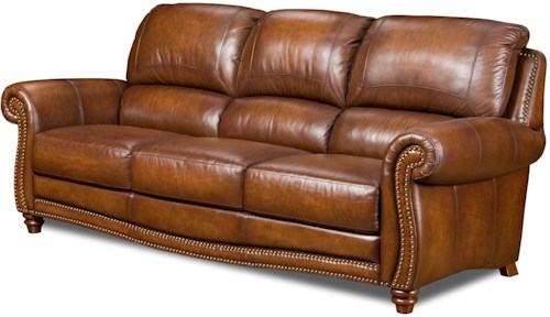 Leather Italia USA Parker Leather Stationary Sofa