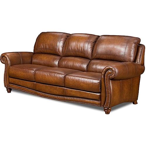 Leather Italia USA Parker Leather Stationary Sofa