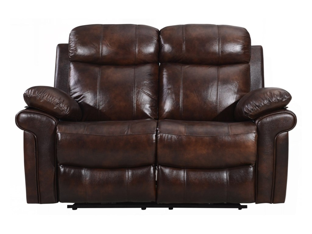 Leather Italia USA Shae - JoplinPower Reclining Leather Loveseat