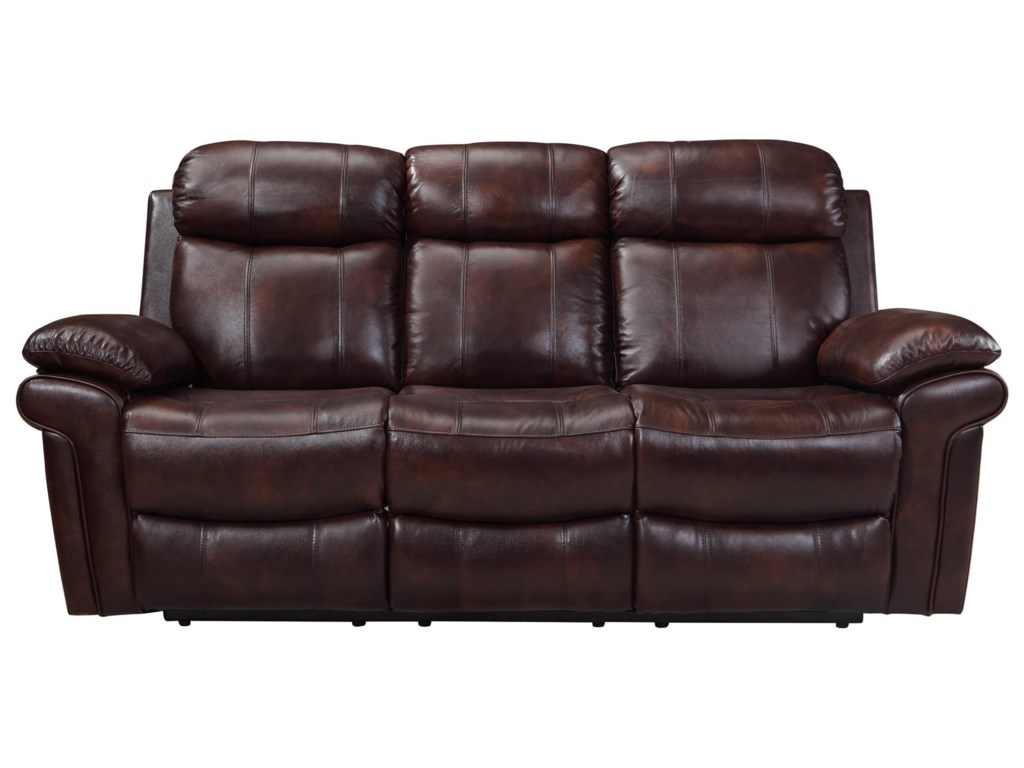 Leather Italia USA JoplinPower Reclining Leather Sofa