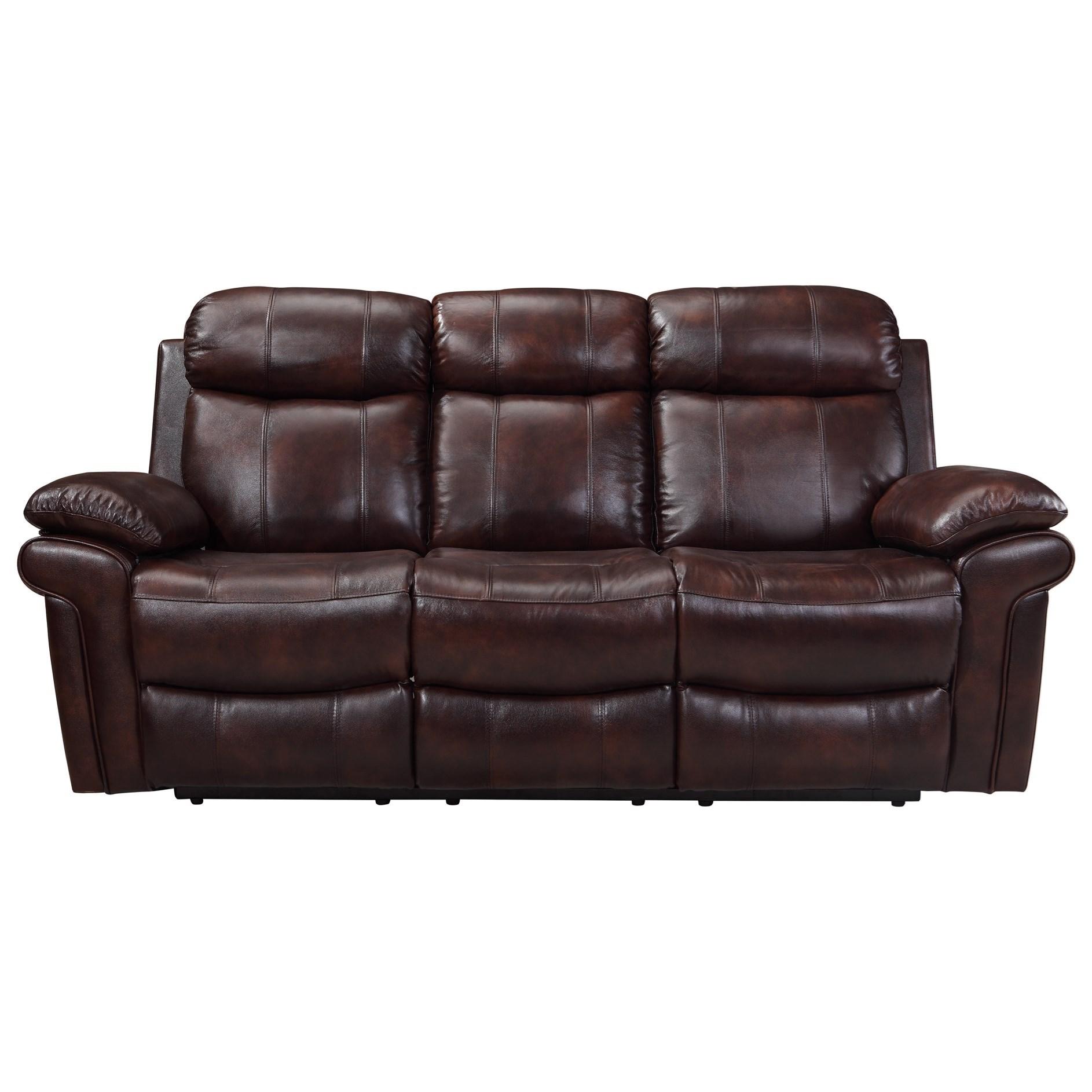 Leather Italia USA Shae   JoplinPower Reclining Leather Sofa ...