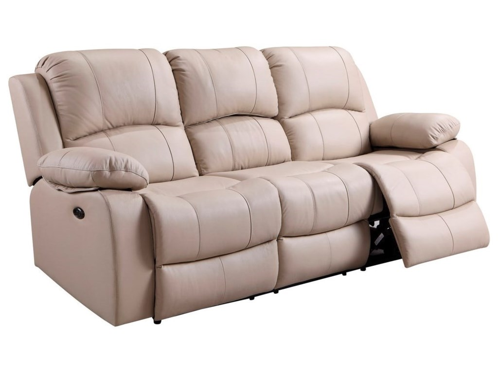 Leather Italia USA WinnfieldDual Power Reclining Sofa