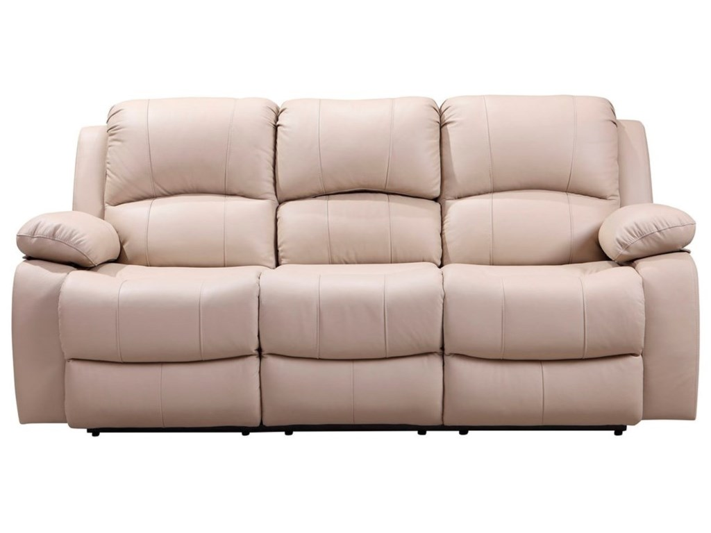 Leather Italia USA Winnfield Leather Power Reclining Sofa with Drop ...