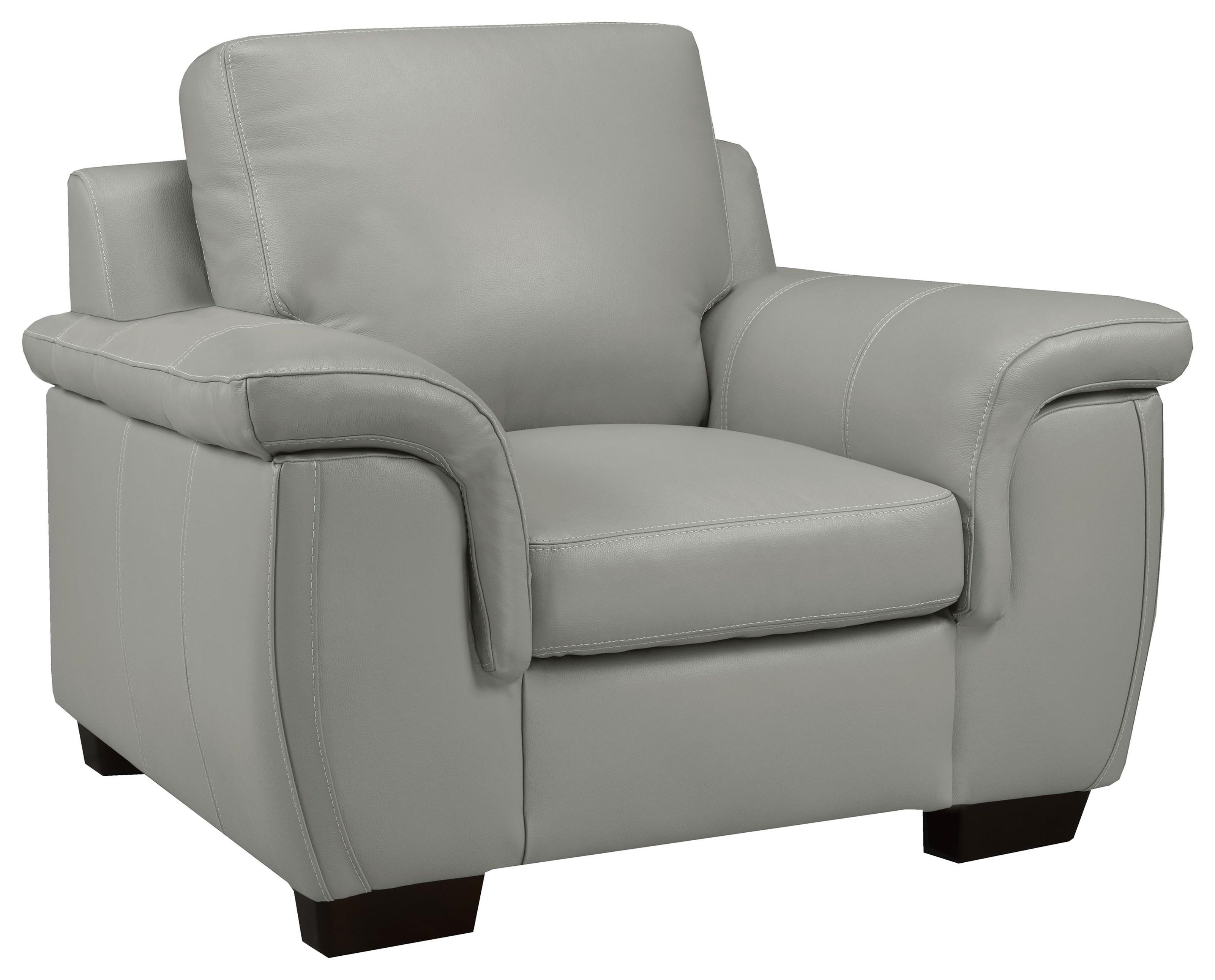 Chair - Lthr /cloud Gray Al