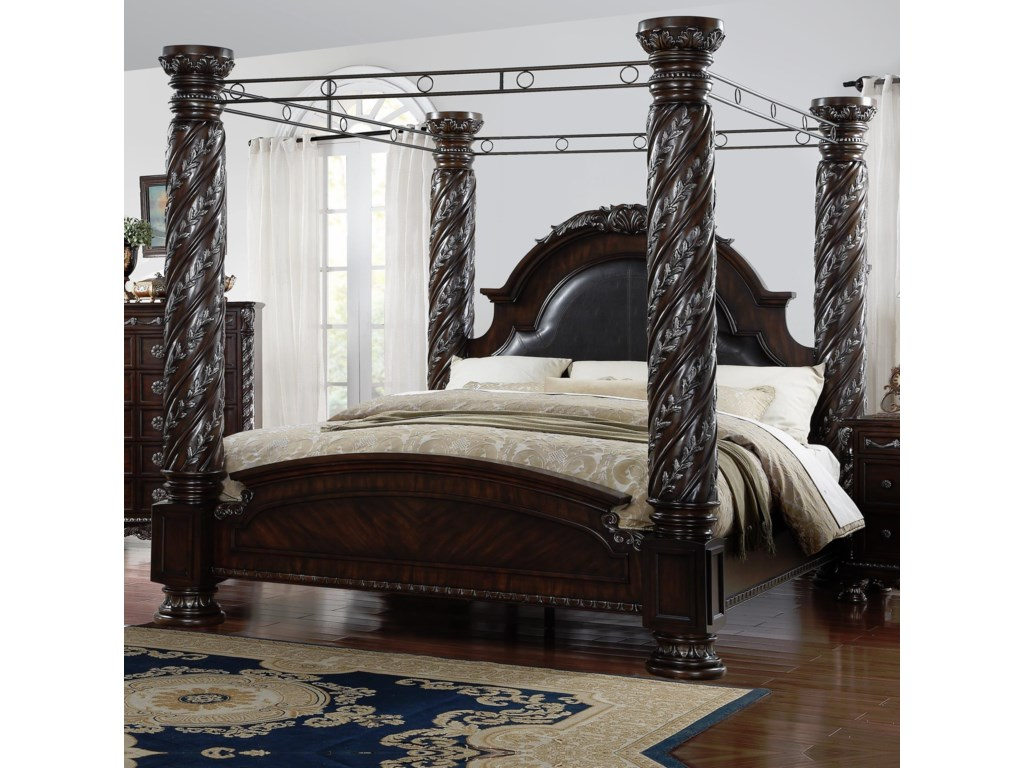 Lee Furniture La Rochelle King Canopy Bed Royal Furniture