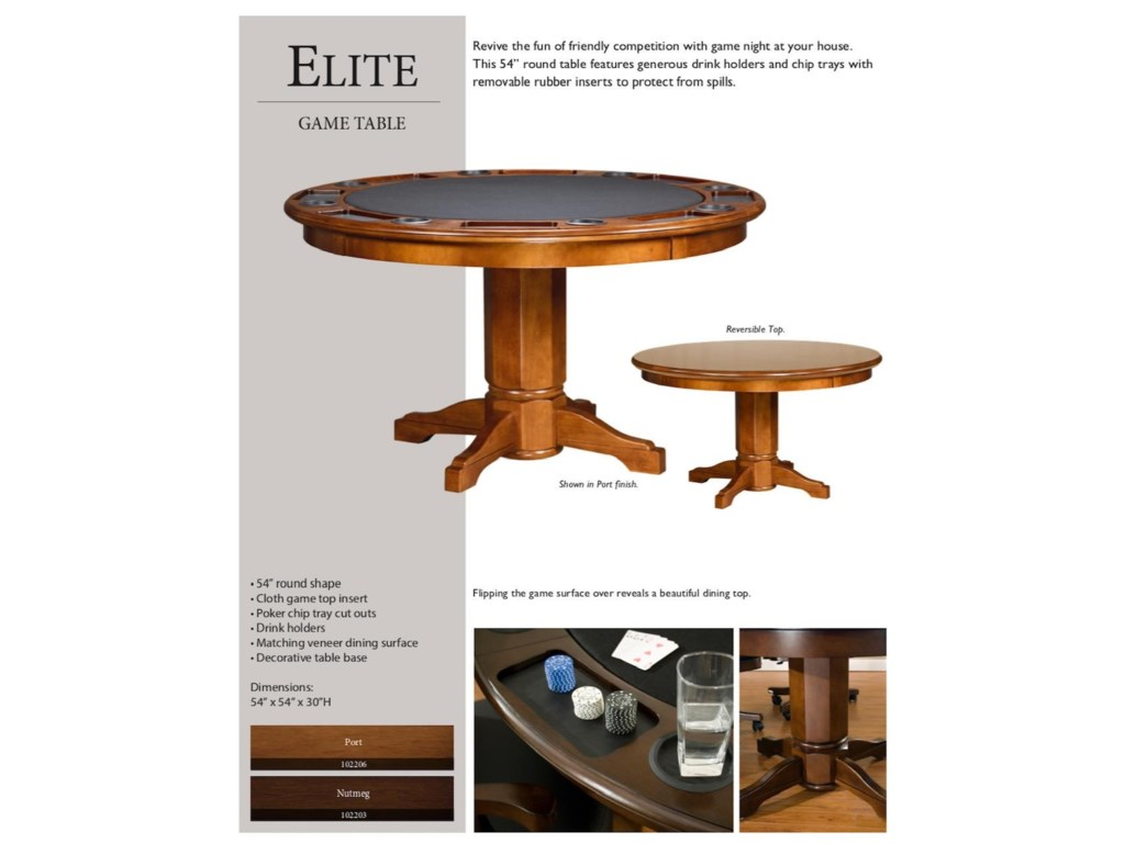 Legacy Billiards Game Room AccessoriesPoker Table