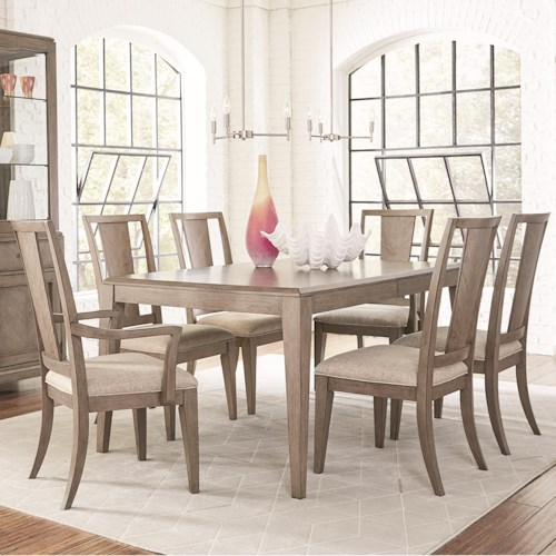 Legacy Classic Apex 7 Piece Rectangular Table and Chair Set with Leaf