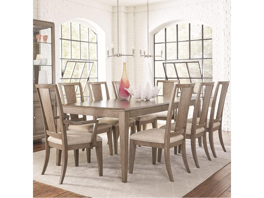 Legacy Classic Apex9 Piece Rectangular Table and Chair Set