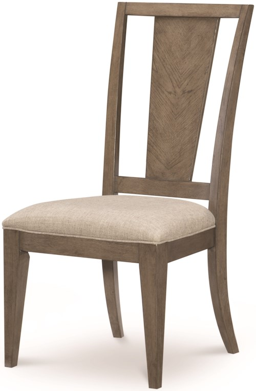 Legacy Classic Apex Splat Back Side Chair with Upholstered Seat
