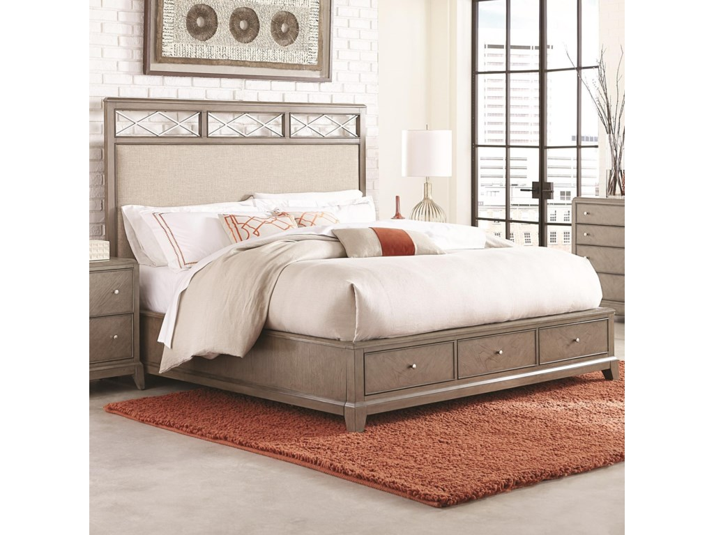 Legacy Classic ApexQueen Upholstered Platform Bed with Storage
