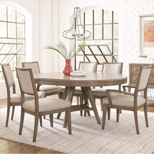 Legacy Classic Apex 7 Piece Round Table and Chair Set with Leaf