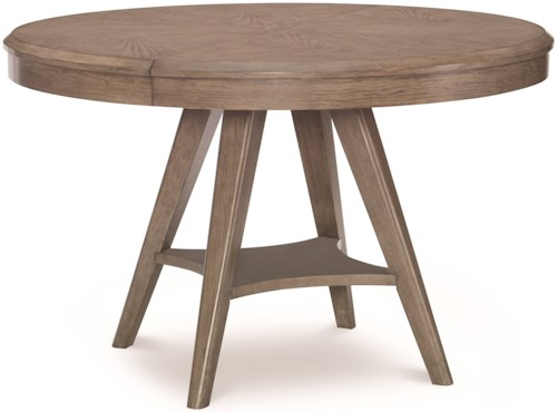 Legacy Classic Apex Round to Oval Pedestal Table with 18