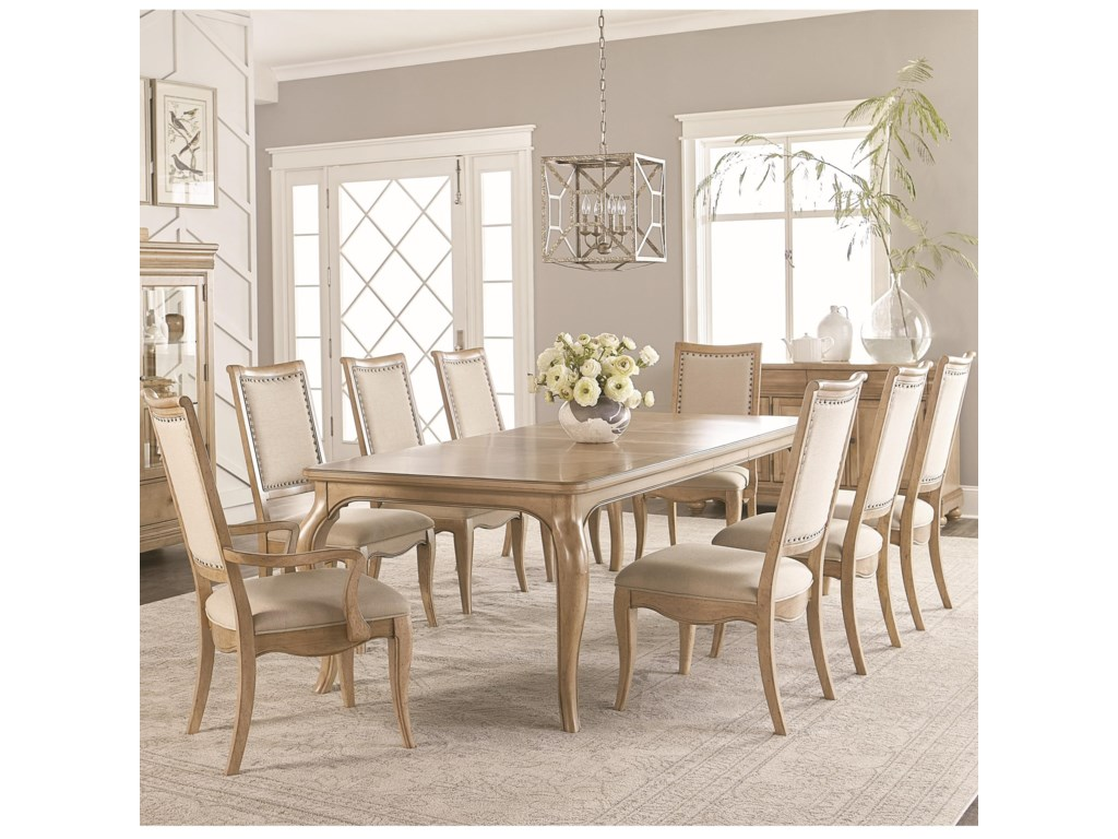 Legacy Classic Ashby Woods 9 Piece Dining Table and Chair Set ...