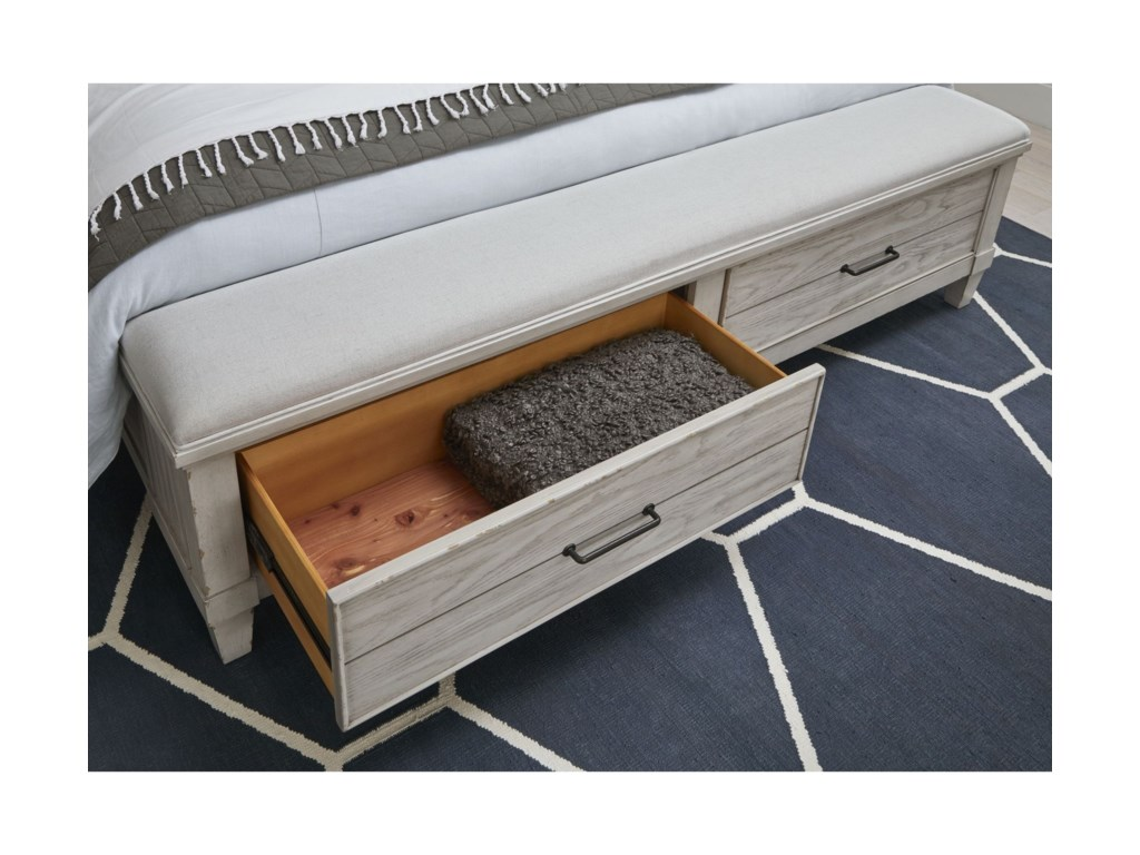 Legacy Classic BelhavenCal King Upholstered Panel Bed with Storage
