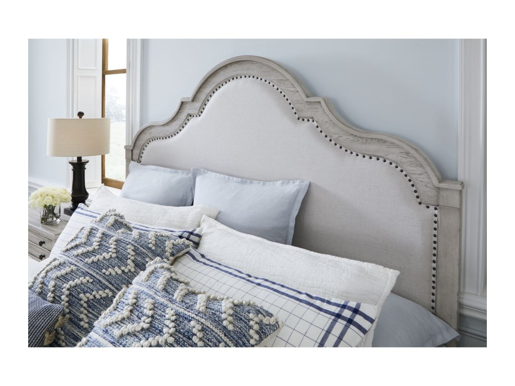 Legacy Classic BelhavenKing Upholstered Panel Bed with Storage