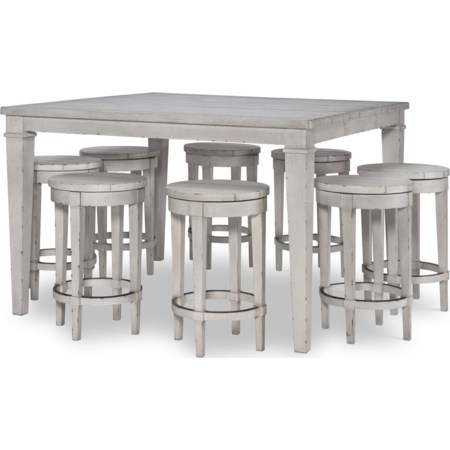 9-Piece Pub Table and Chair Set