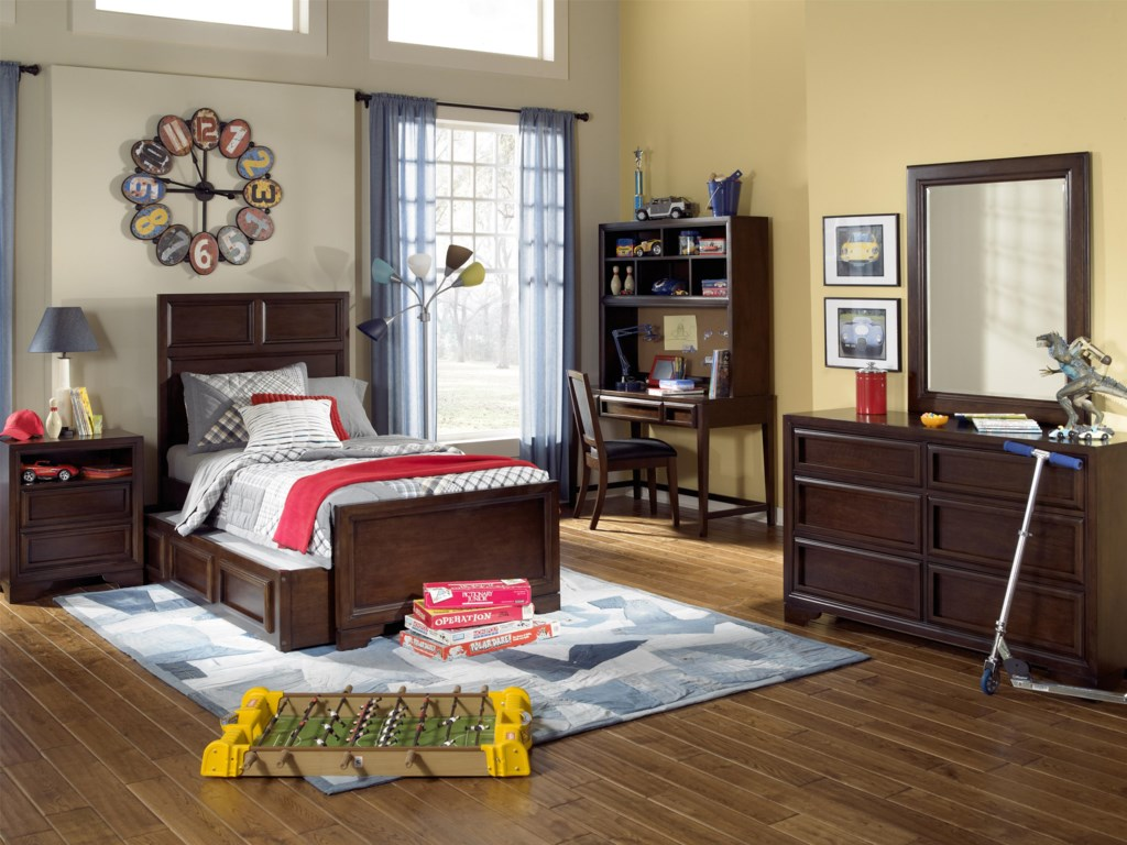 Shown with Nightstand, Panel Bed, Trundle Drawer, Desk & Hutch, Task Chair and Dresser
