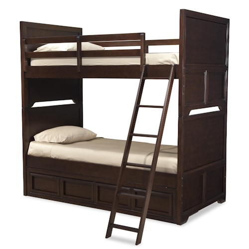 Legacy Classic Kids Benchmark Twin over Twin Bunk Bed with Underbed Storage Drawer