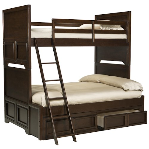 Legacy Classic Kids Benchmark Twin over Full Bunk Bed with Underbed Storage Drawer