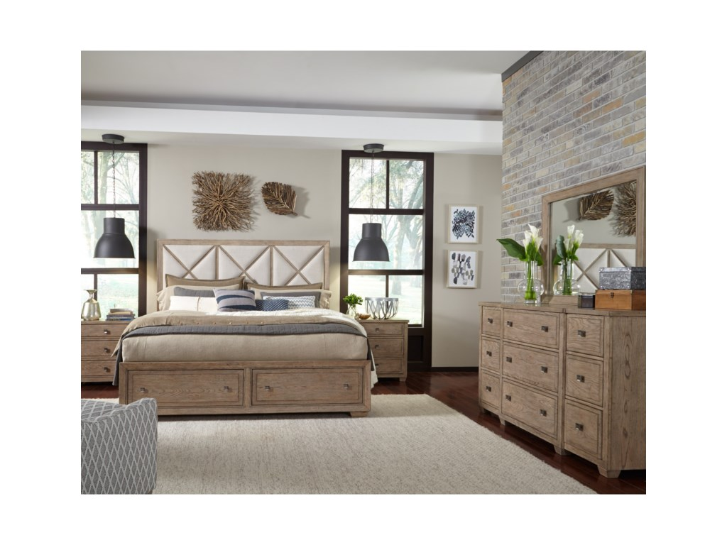 Legacy Classic BridgewaterKing Upholstered Bed