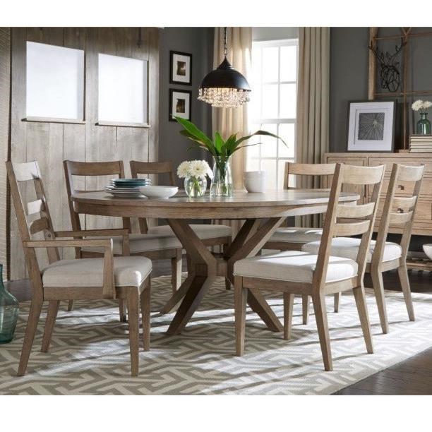 Legacy Clic Bridgewater 7 Piece Round Table Set W Slat Back Chairs