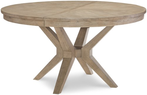 Legacy Classic Bridgewater Round Leg Table with Removable Leaf