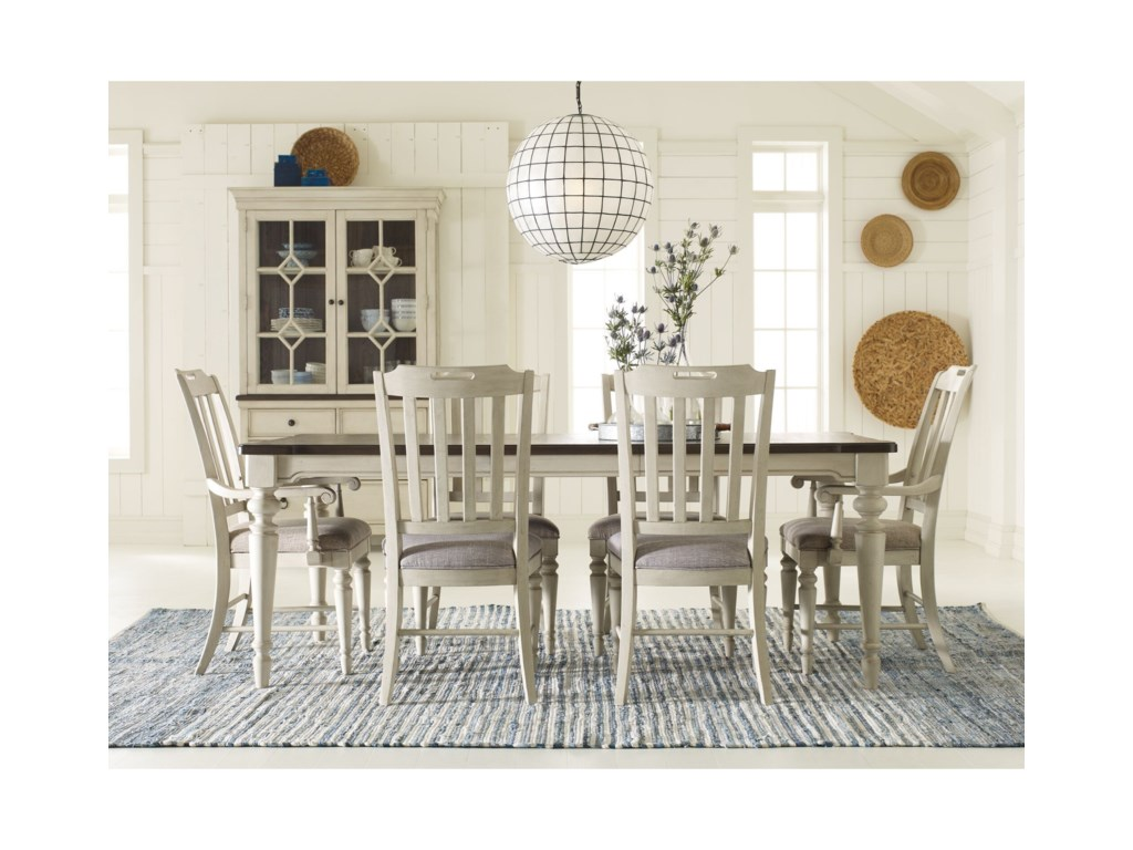 Brookhaven 7 Piece Rectangular Table Set By Legacy Classic At Pilgrim Furniture City