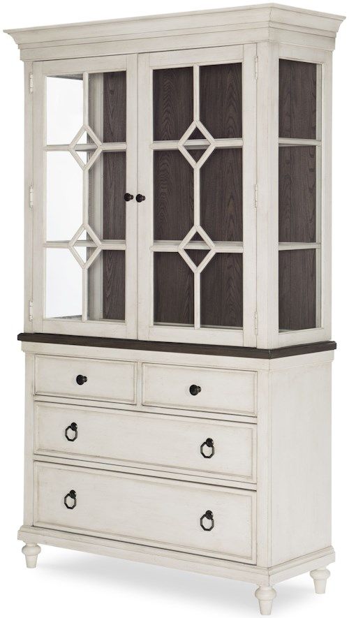 Legacy Classic Brookhaven China Cabinet with Touch Lighting