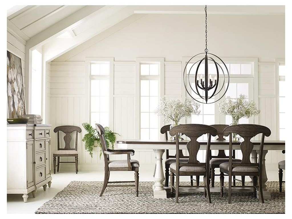 Legacy Classic Brookhaven5 Piece Dining Set With Trestle Table and 4