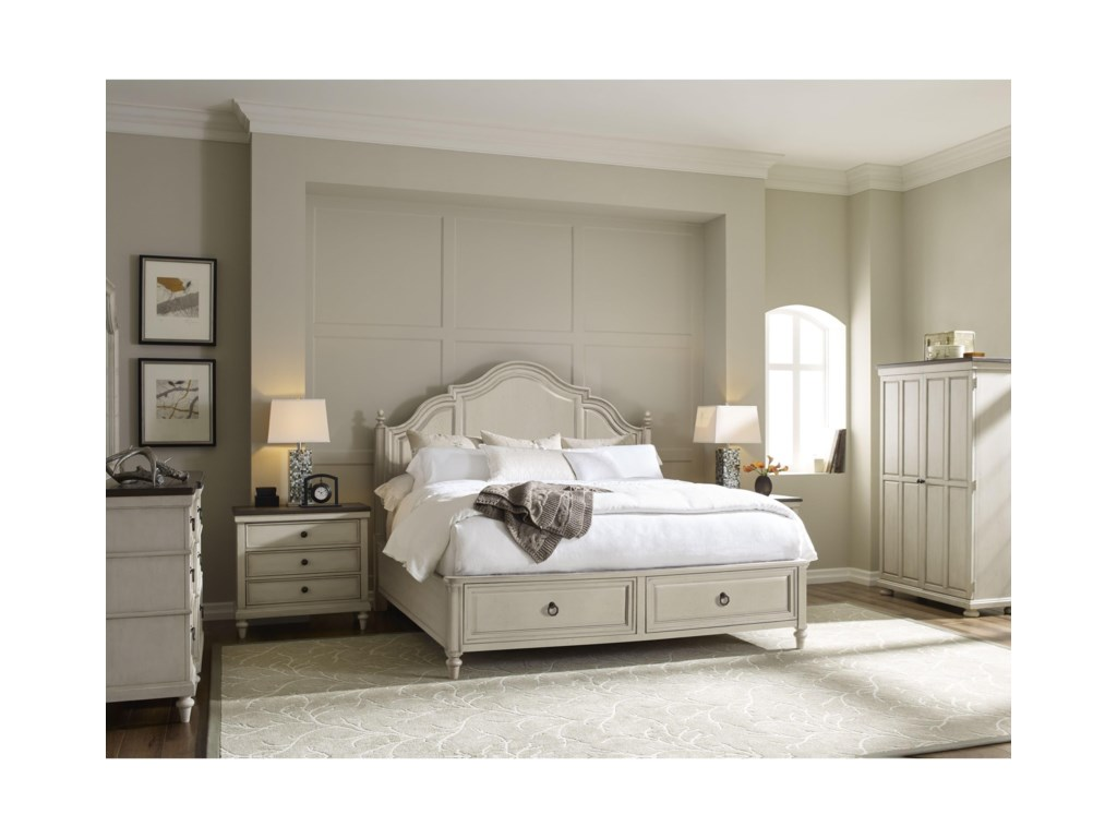 Legacy Classic BrookhavenKing Panel Storage Bed