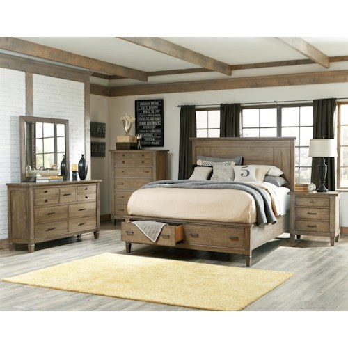 Legacy Classic Brownstone Village King Bedroom Group 1
