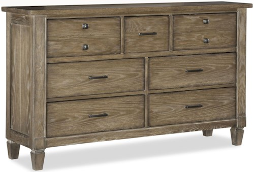 Legacy Classic Brownstone Village 7 Drawer Dresser with Cedar Lined Bottom Drawers