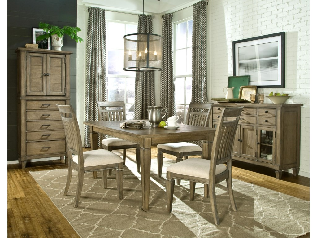 Shown with Pantry Cabinet, Leg Dining Table and Credenza