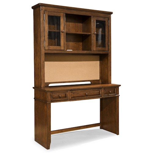 Legacy Classic Kids Dawsons Ridge 3-Drawer Desk with Power Strip, Lift Lid and Wire Mesh Door Hutch