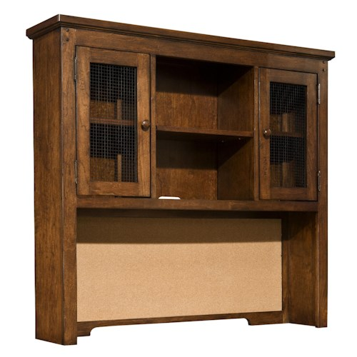 Legacy Classic Kids Dawson's Ridge Desk Hutch with Cork Board Panel and Wire Mesh Doors