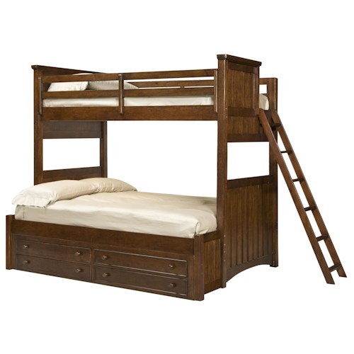 Legacy Classic Kids Dawsons Ridge Twin-over-Full Bunk with 4-Drawer Underbed Storage Unit and Ladder