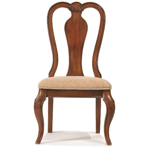 Legacy Classic Eternity Queen Anne Side Chair with Upholstered Seat