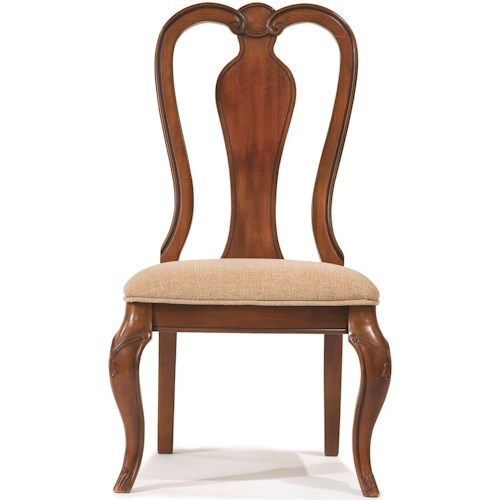 Legacy Classic Evolution Queen Anne Side Chair with Upholstered Seat