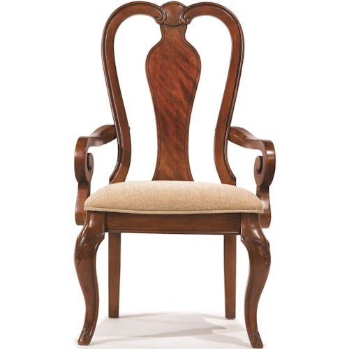 Legacy Classic Eternity Queen Anne Arm Chair with Upholstered Seat