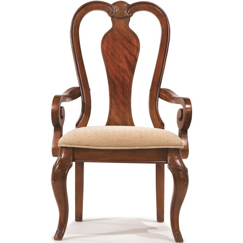 Legacy Classic Evolution Queen Anne Arm Chair with Upholstered Seat