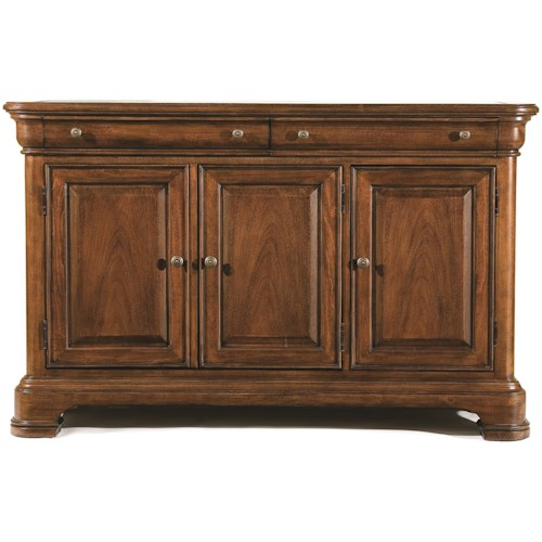 Legacy Classic Evolution Two Drawer Credenza with Marble Top