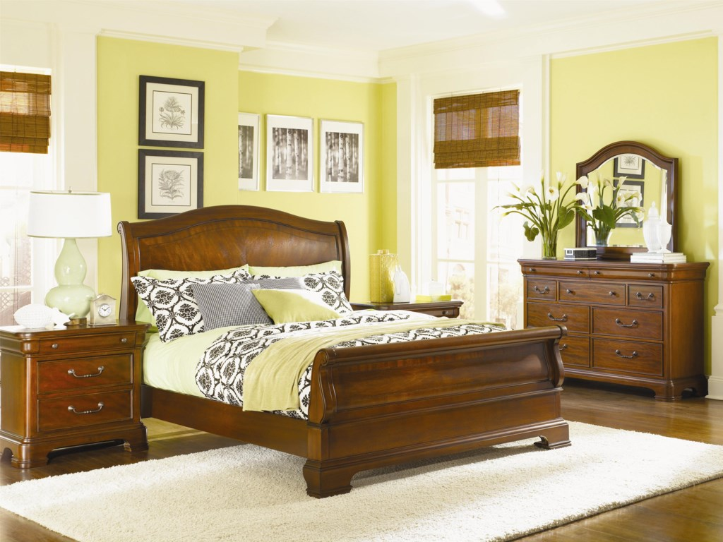 Shown with Nightstand, Dresser & Mirror - Bed Shown May Not Represent Size Indicated