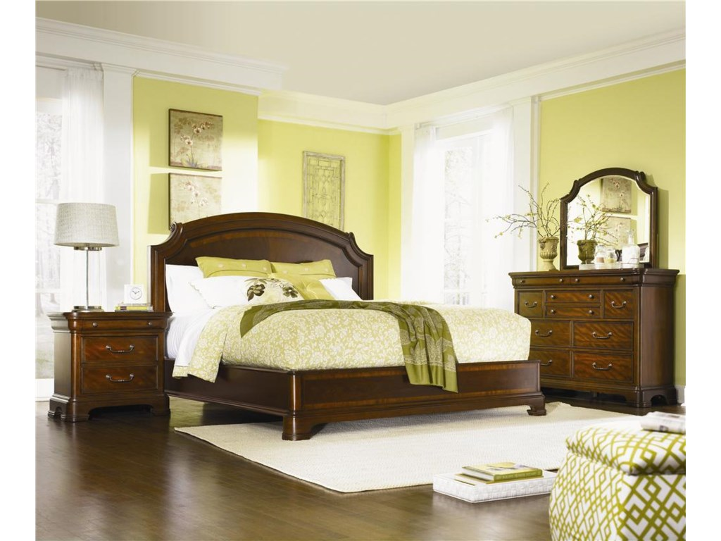 Shown with Night Stand and Dresser with Mirror - Bed Shown May Not Represent Size Indicated