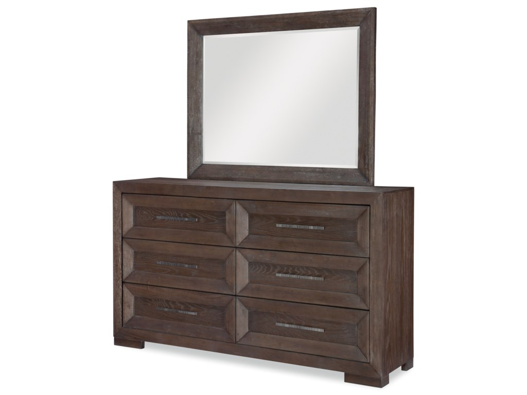 Legacy Classic FacetsDresser and Mirror Set