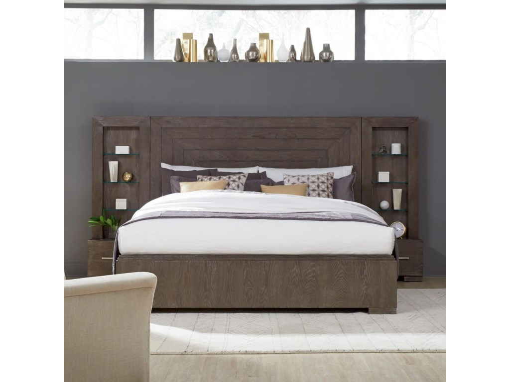 Legacy Classic FacetsQueen Wall Panel Bed