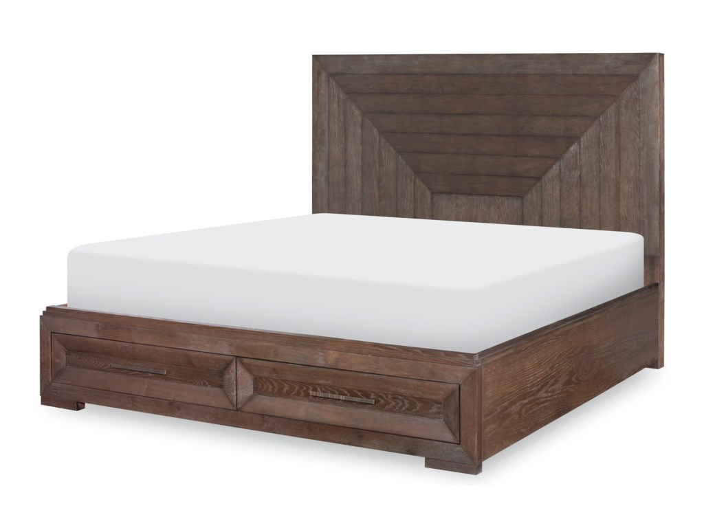 Legacy Classic FacetsQueen Panel Bed w/ Storage Footboard