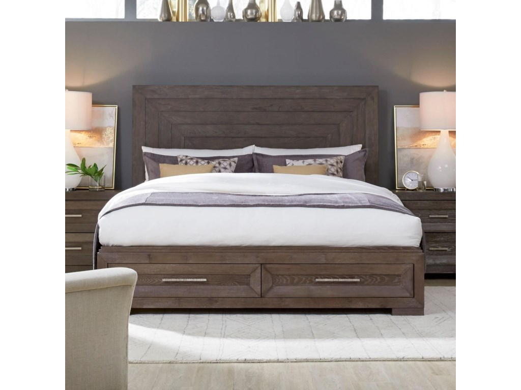 Legacy Classic FacetsCalifornia King Panel Bed w/ Storage