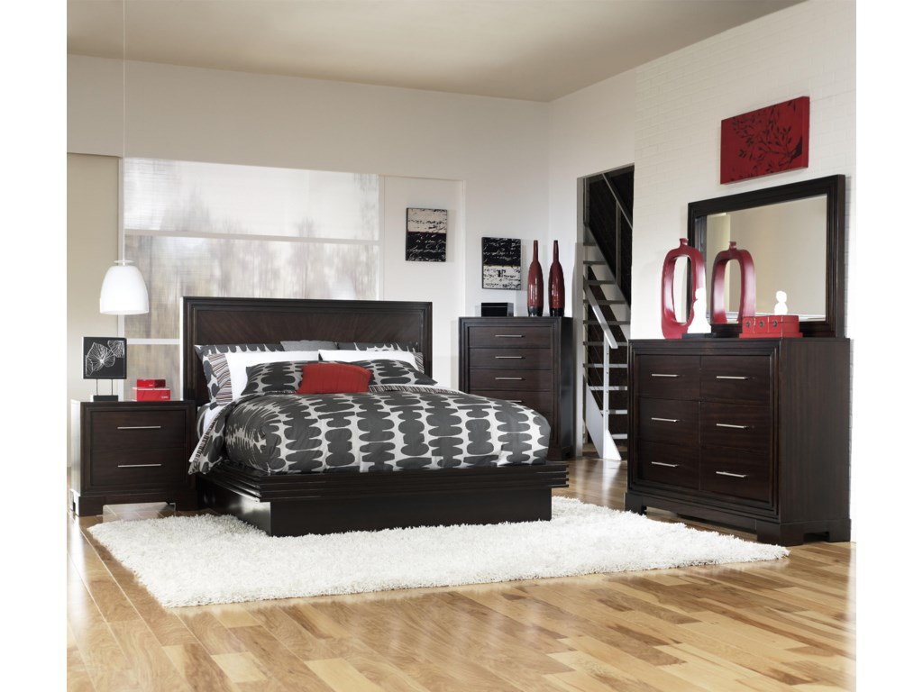 Shown with Nightstand, Chest, Bureau, and Mirror - Bed Shown May Not Represent Size Indicated