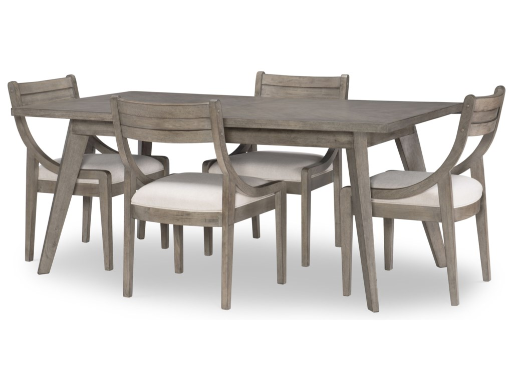 Legacy Classic Greystone5-Piece Rectangular Table and Chair Set
