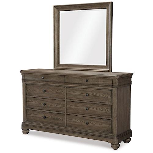 Legacy Classic Hartland Hills Transitional Dresser and Mirror Set